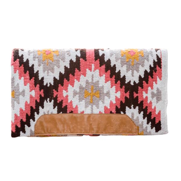 Hand woven saddle blanket