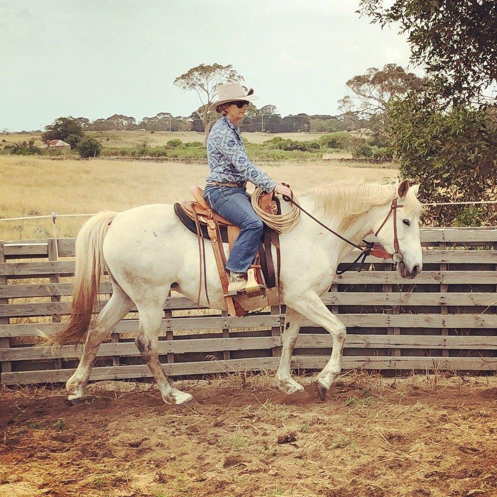 Natural Horseman Saddle Ranch Roper