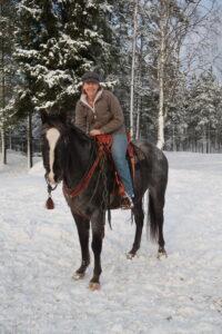 Appaloosa with NHS Saddle